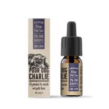 Poor Dog Charlie 2%-os (200 mg) CBD csepp - csukamáj olajjal, kisállatok részére