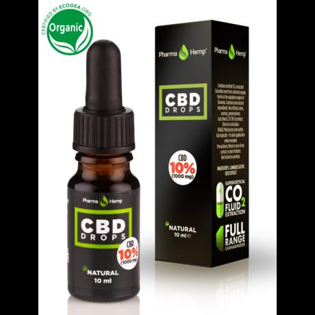 Pharmahemp 10%-os (1000 mg) CBD csepp - oliva olajjal